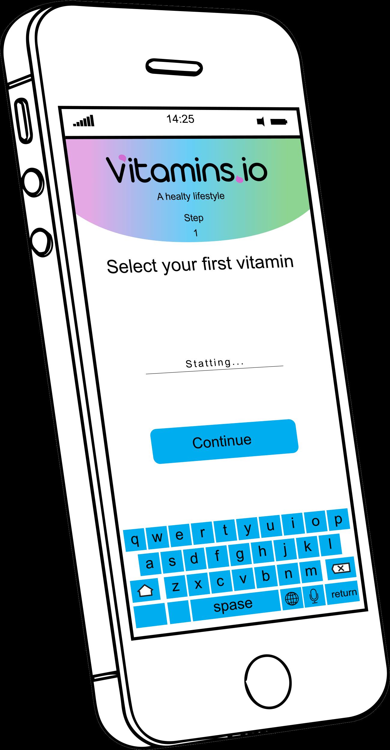 Vitamins.io mobile app