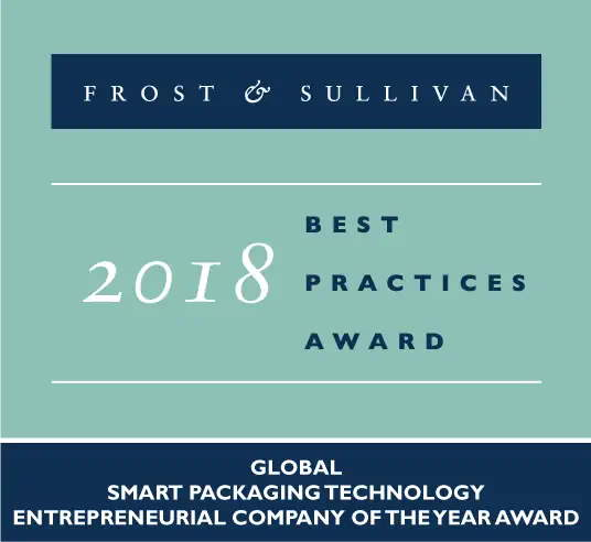 Water.IO's Internet of Packaging Service Earns It Frost & Sullivan's Prestigious Entrepreneurial Company of the Year Award 2018