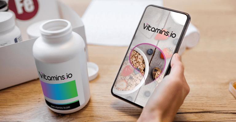 vitamins.io app on the mobile