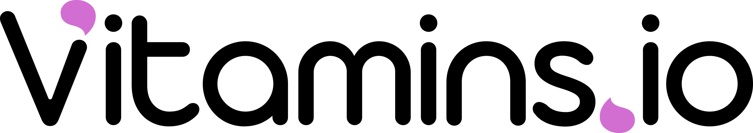 vitamins.io logo with black and purple colors